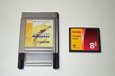 Adapter und CF-Card